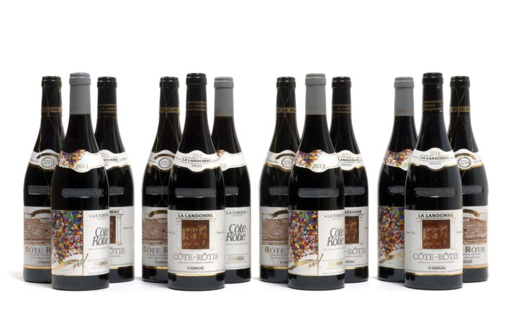 Auction item: A case of 12 bottles of Côte-Rôtie vintages offered by Domaine Guigal