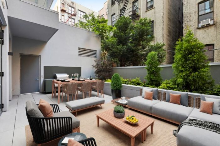 Garden of apartment at 145 Central Park North