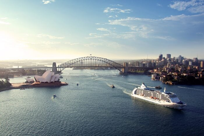 regent seven seas cruises in sydney on new voyage collection