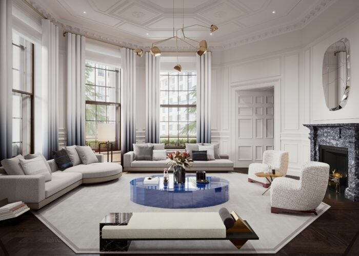 A living room at the OWO Residences
