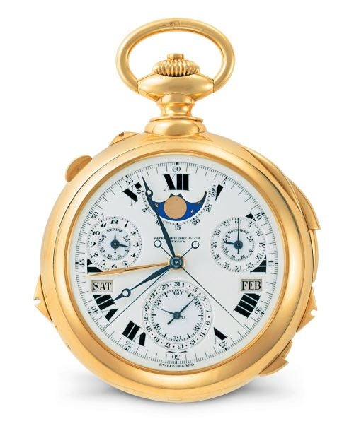 Henry Graves Supercomplication - second most expensive watch sold at auction