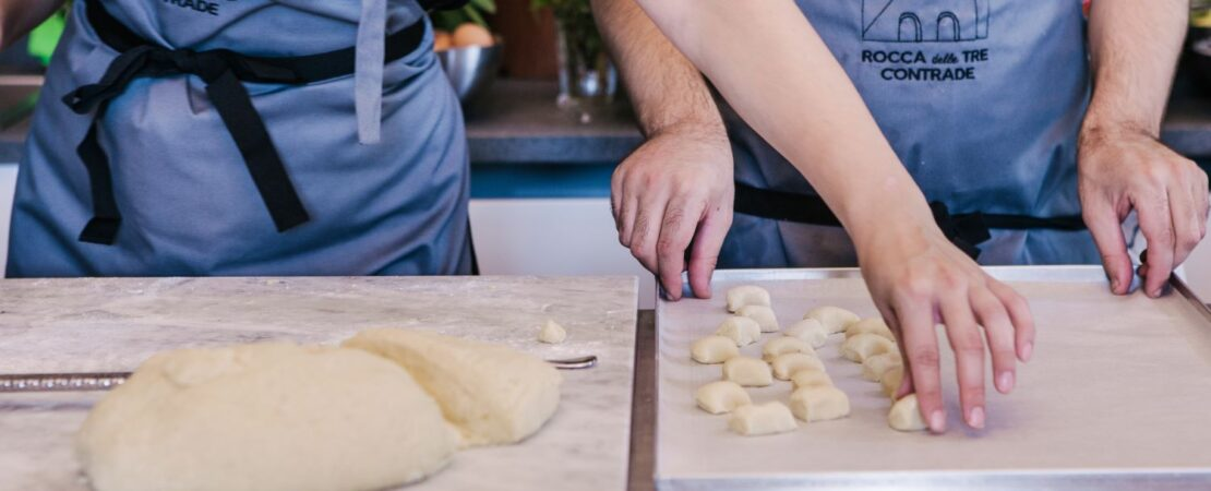 Two people cooking - Christian Puglisi Sicily Cooking Class