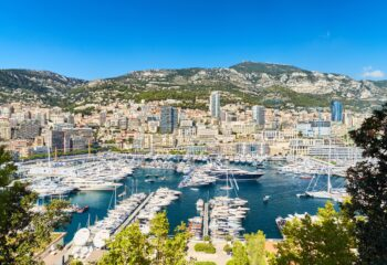aerial view of monaco yacht show