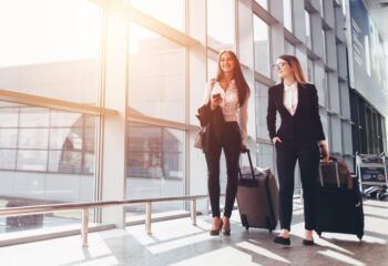 business partners traveling