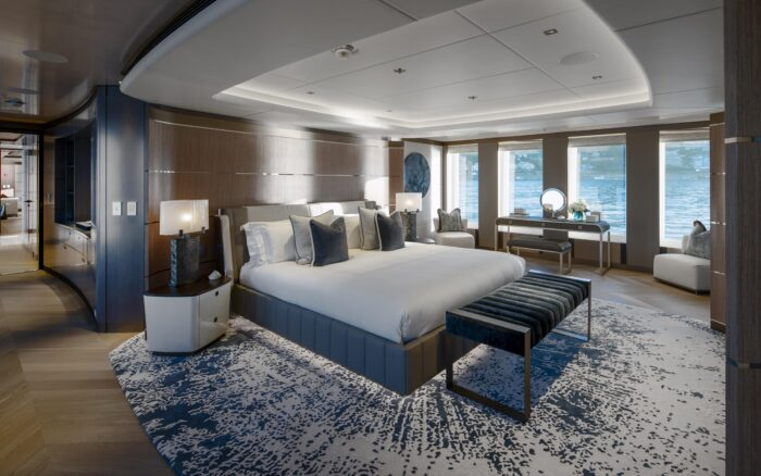 heesen new moskito yacht interior owners cabin