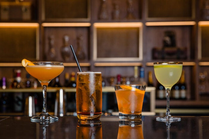 Cocktails by Jim Meehan in the Centurion Lounge at London Heathrow Airport