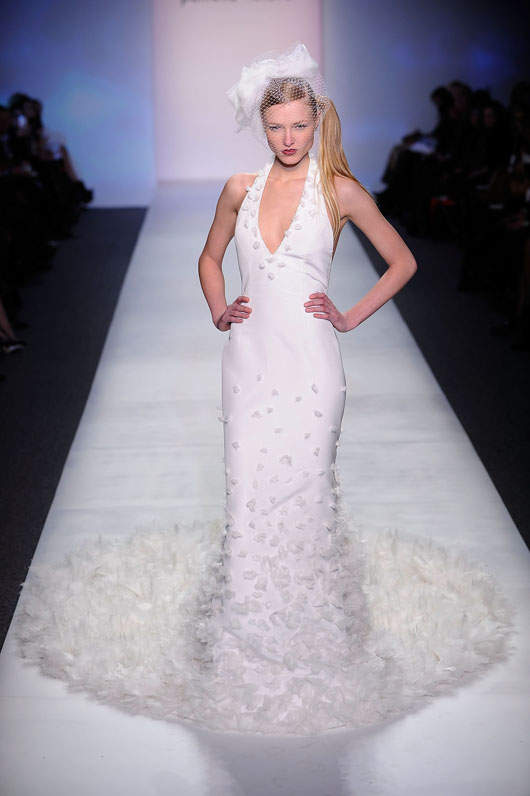 A Bridal Look From Pamella Roland F W2010 Photo By Jemal Countess Getty