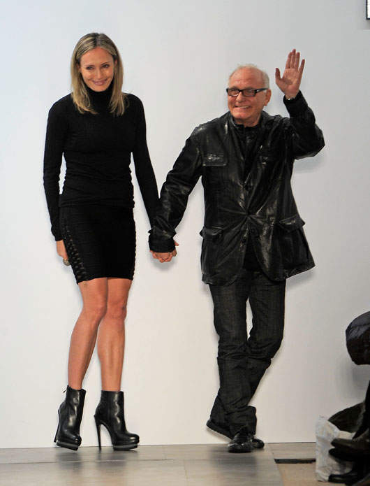 Max Azria and Creative Director Lubov Azria take their bow / Photo by Jemal Countess/Getty Images for Mercedes-Benz