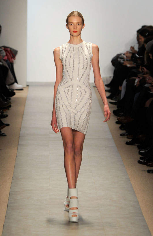 A look from Hervé Léger's Fall 2010 Showing / Photo by Jemal Countess/Getty Images for Mercedes-Benz