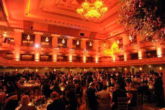 The scene at the opening gala