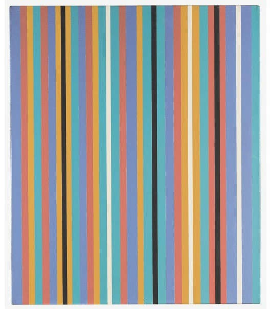 Bridget Riley, KA 3, 1980, oil on linen, 71 x 58 cm - Courtesy of Agnews Gallery