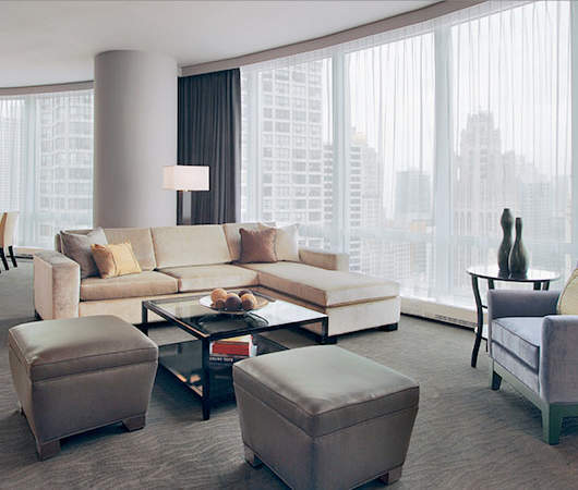 Suite Living Room at Trump International Hotel