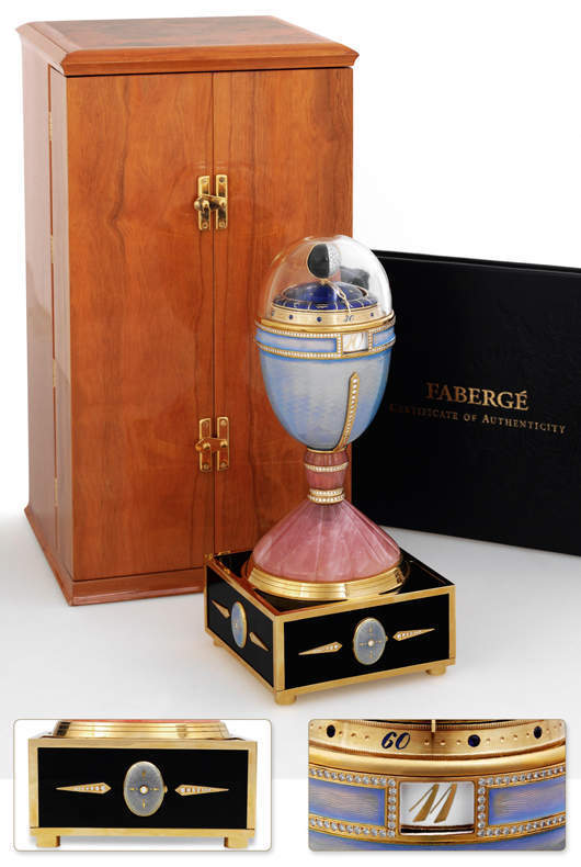 Faberge Musical Table Clock