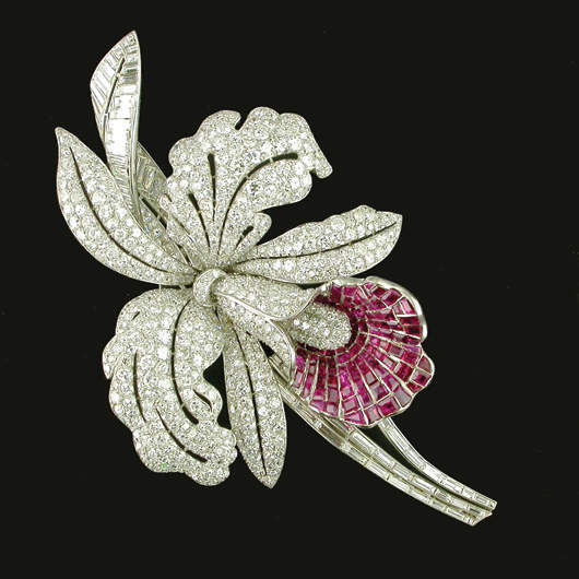 Orchid Brooch / Courtesy Of Hancocks