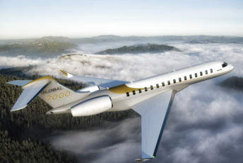 Bombardier Unveils New Global 7000 Aircraft Mock-Up